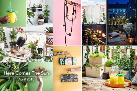 Here comes the sun! Årets nyheter för balkong och terrass.