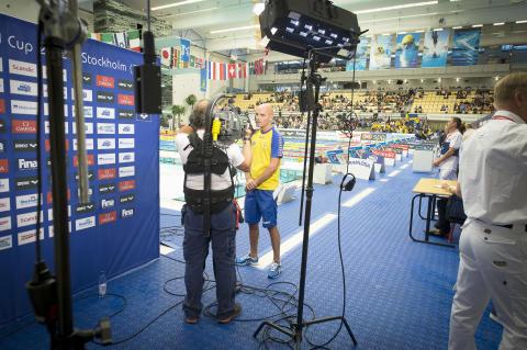 Internationella simtävlingen Swim Open Stockholm TV-sänds