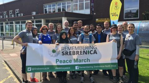 Peace walk remembers the victims of Srebrenica