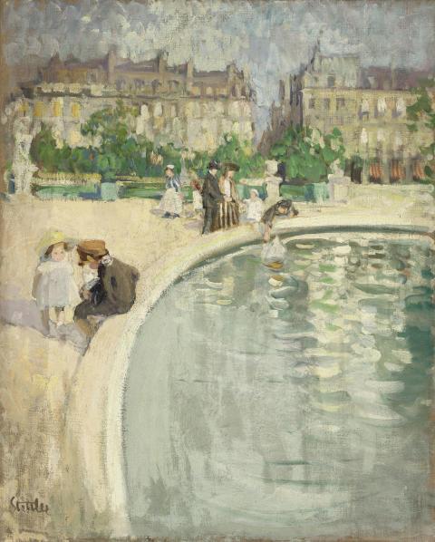 Martha Stettler: Aux tuileries, um 1910