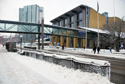 One Tonne Life-huset utanför Svenska Mässan i Göteborg