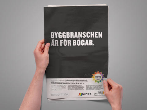Byggbranschen är för bögar (RFSL och Byggcheferna i gemensam kampanj)