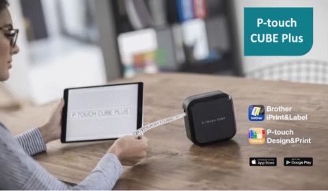 Nieuwe labelprinter van Brother organiseert moeiteloos uw kantoor en laadt op vanaf USB – P-touch CUBE Plus