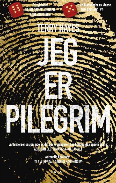 100 000 eks. av Jeg er Pilegrim av Terry Hayes!