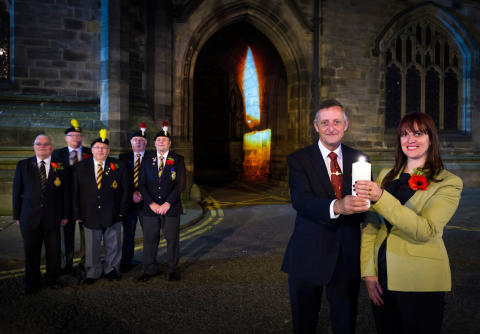 Rochdale commemorates WW1 Centenary with LIGHTS OUT