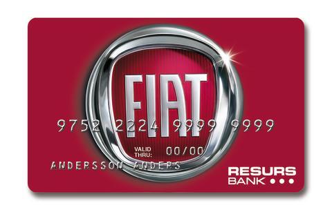 Fiat Group Automobile Sweden väljer Resurs Bank för kundfinansiering