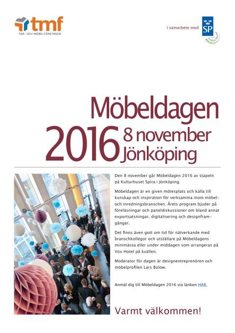 Inbjudan - Möbeldagen 2016