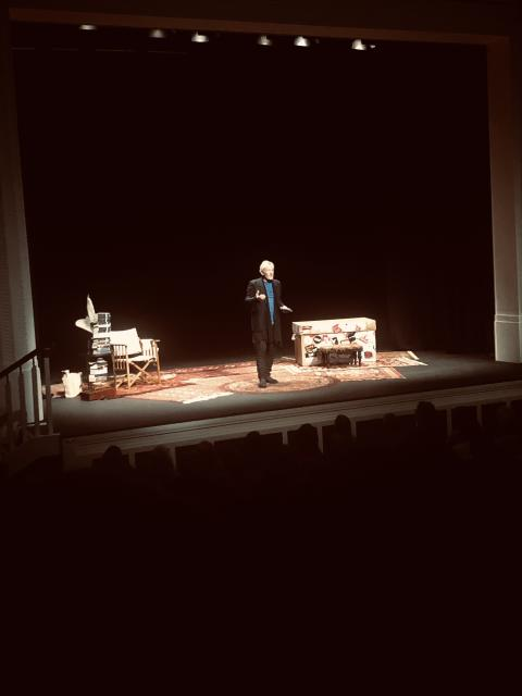 World-renowned actor Sir Ian Mckellen on stage at the Braid