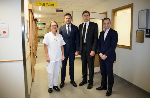 Sjukvårdsminister besökte Region Skåne för dialog