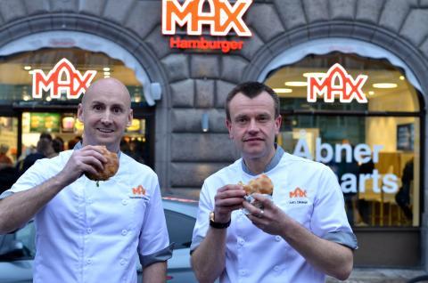 Richard Bergfors och Jesper Panduro vid öppningen av Max i Köpenhamn