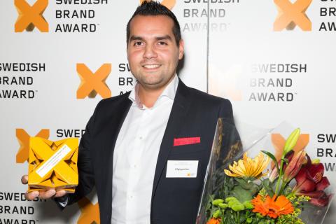Elgiganten vinnare av Evimetrix Swedish Brand Award 2014