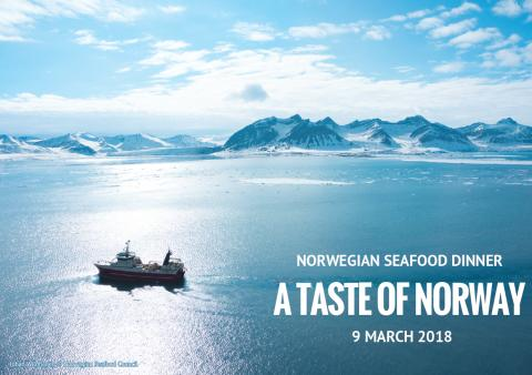 Last Call: The Annual Norwegian Seafood Dinner Friday 9 March 2018