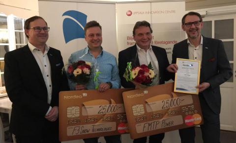 F3 Snow Technologies och FMTP Power vann Nordeas resestipendium 2016