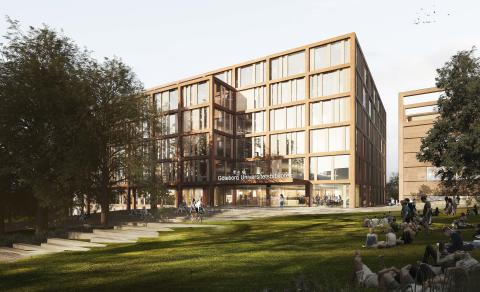 Förslag KUNSKAPSLÄNKEN, arkitekttävling universitetsbiblioteket