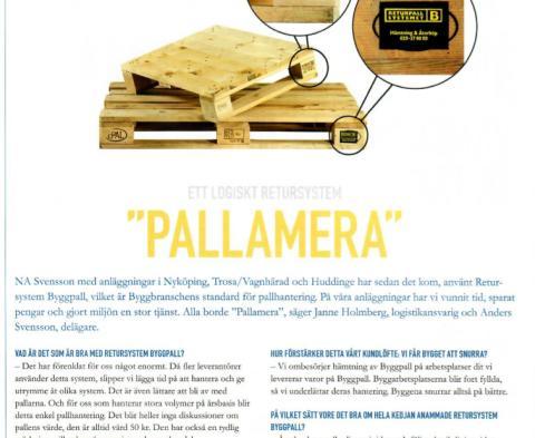 """""""Alla borde PALLAMERA"""" - ett reportage om Retursystem Byggpall"""