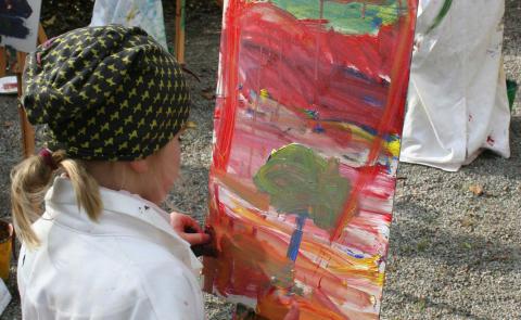 Friluftsmåleri för barn
