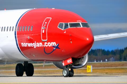 Norwegian-flyet LN-NOO på OSL