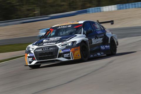 Audi-föraren Tobias Brink tror att Anderstorp är hans och andra förares stora chans att ta en seger från förarna i de konkurrerande toppteamen i STCC. Foto: Tony Welam/STCC