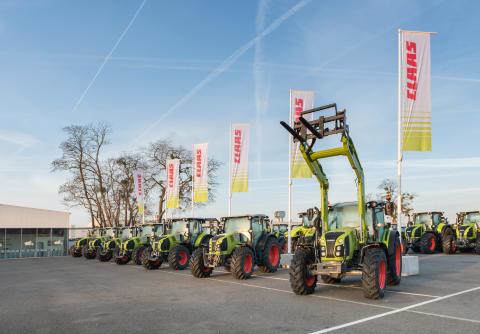 I CLAAS traktorfabrik i Le Mans produceras varje år 10 000 traktorer.