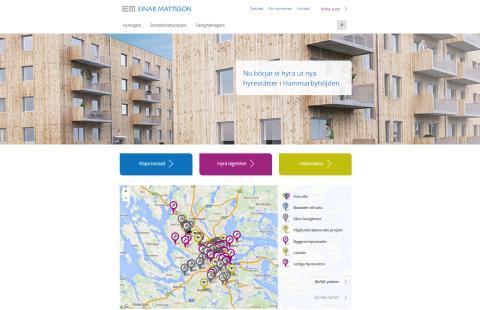 Einar Mattssons nya startsida på webben – så funkar den