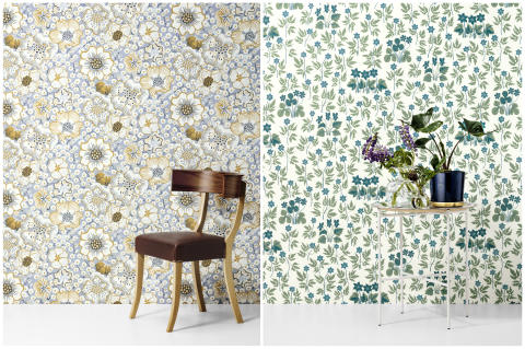 Svenskt Tenn adds Josef Frank flowers to wallpaper range