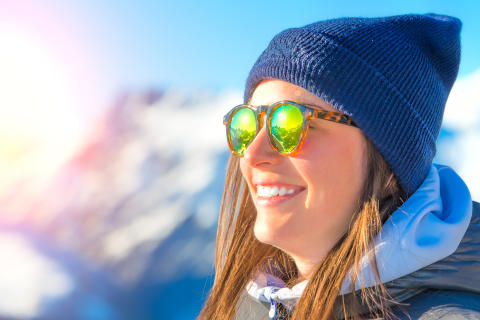 Snygga bågar som ger skydd på skid- och solresan