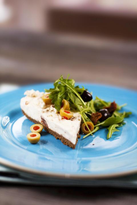 Fetaost Cheesecake med soltorkade tomater
