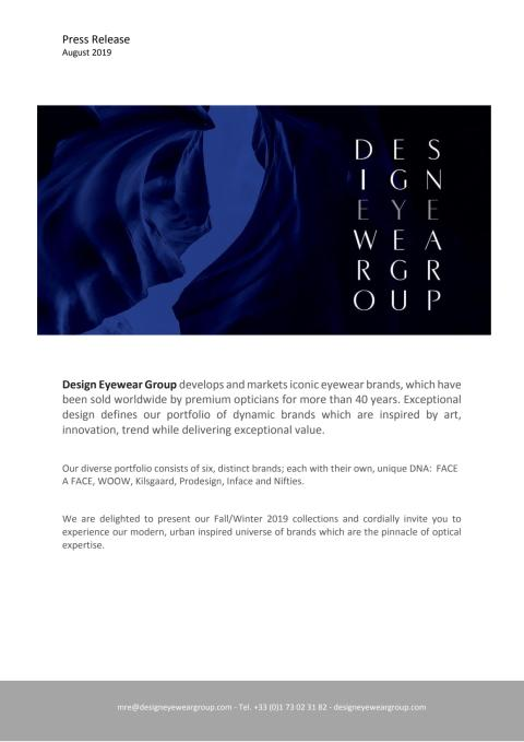 Stunning and creative new releases at Design Eyewear Group