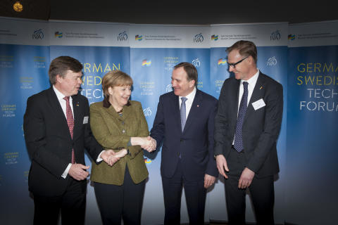 Angela Merkel och Stefan Löfven på German Swedish Tech Forum 2
