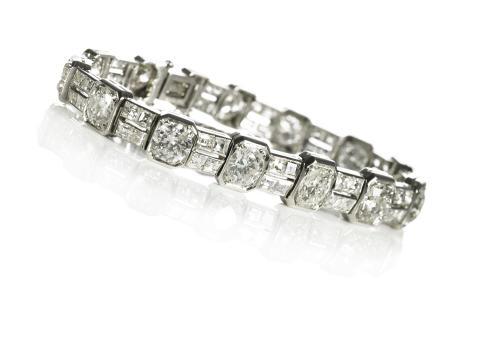Art deco diamantarmbånd