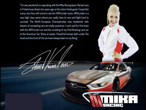 Emma Kimiläinen kör NEZ V8 Thunder Cars
