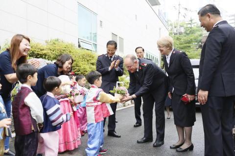 The General and Commissioner Silvia Cox visit Korea, Mongolia and Cambodia