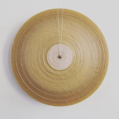 Wax circle by Kasper Friis Kjeldgaard, Transparencies 2018