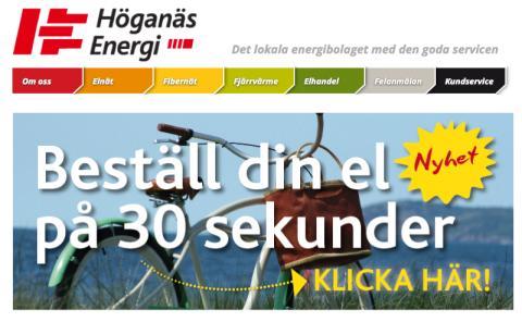 Höganäs Energi inviger sitt fjärde affärsområde och erbjuder el till rörligt pris
