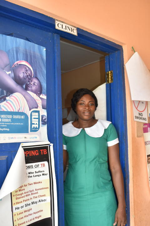 Sjuksköterska Ophelia Kwakye, Asenema epicenter, Ghana 2019