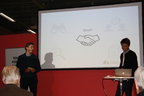 Sebastian Karlsson och John Engholm, från Serendipity, pratade om ökad tillväxt under Elmia Subcontractor.
