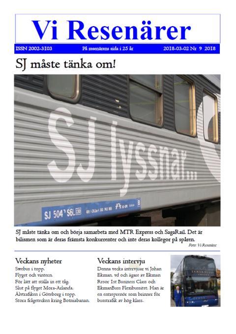 Johan Ekman intervjuas för Vi Resenärer - SJ måste tänka om!