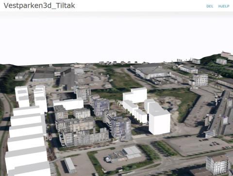 3D – web basert bymodell for Lørenskog