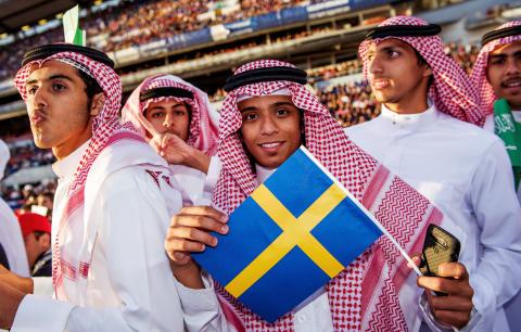 Jordan team with swedish flag