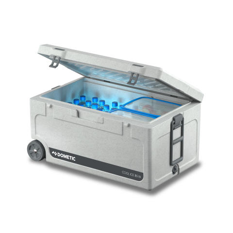 Hi-res image - Dometic - Dometic Cool-Ice CI 85W icebox with wheels and pull-out handle