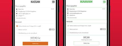 Anpassad layout - en av flera trevliga uppdateringar i Hygglig betaltjänst