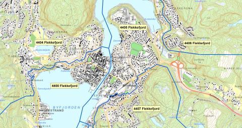4400  Flekkefjord  - postnummerinndeling