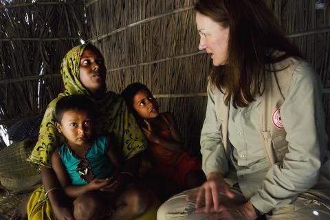 Ulrika Årehed Kågström i Dhalchar, Bangladesh.