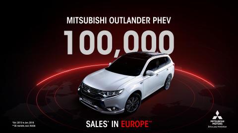 Topseller Plug-in Hybrid Outlander: schon 100.000 Einheiten in Europa verkauft