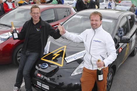 Erfarenhet räckte längst i Oresund Electric Car Rally