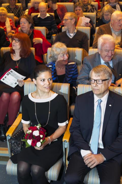 Hjärnfondens beskyddare, Kronprinsessan Victoria på Hjärnans dag 2014