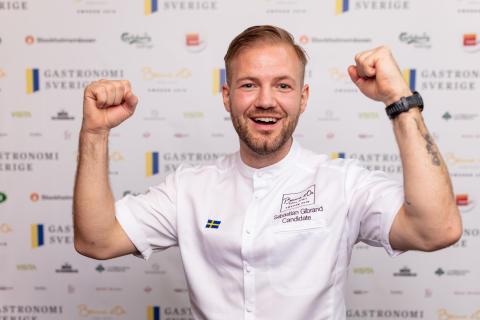 Sebastian Gibrand vinnare i Bocuse d'Or Sverige 2019