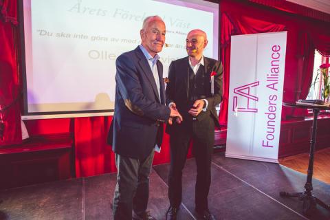 Olle Blomqvist Årets Förebildsentreprenör på Entreprenörsgalan Väst 2013