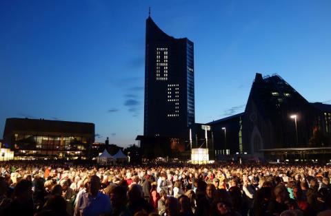 """Lichtfest Leipzig 2017  - """"Aufbruch – Verantwortung – Offenheit"""""""