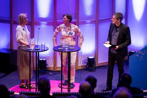 Mikael Tornving intervjuar Cecilia Nordén och Annika Klyver